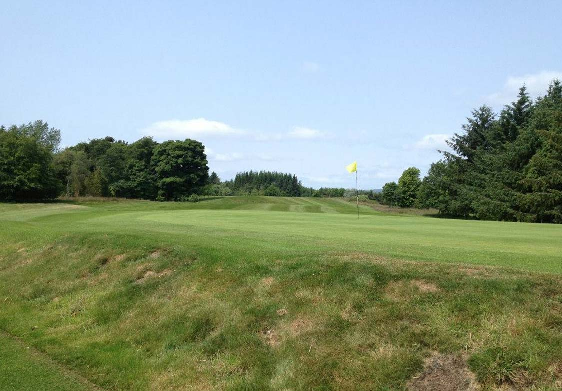 Catterick Golf Course green and fairway with Flag