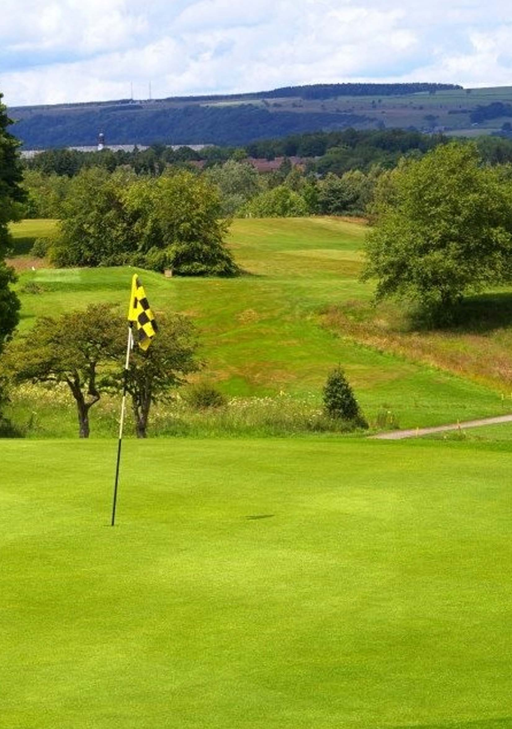 Catterick Golf Course green with Flag