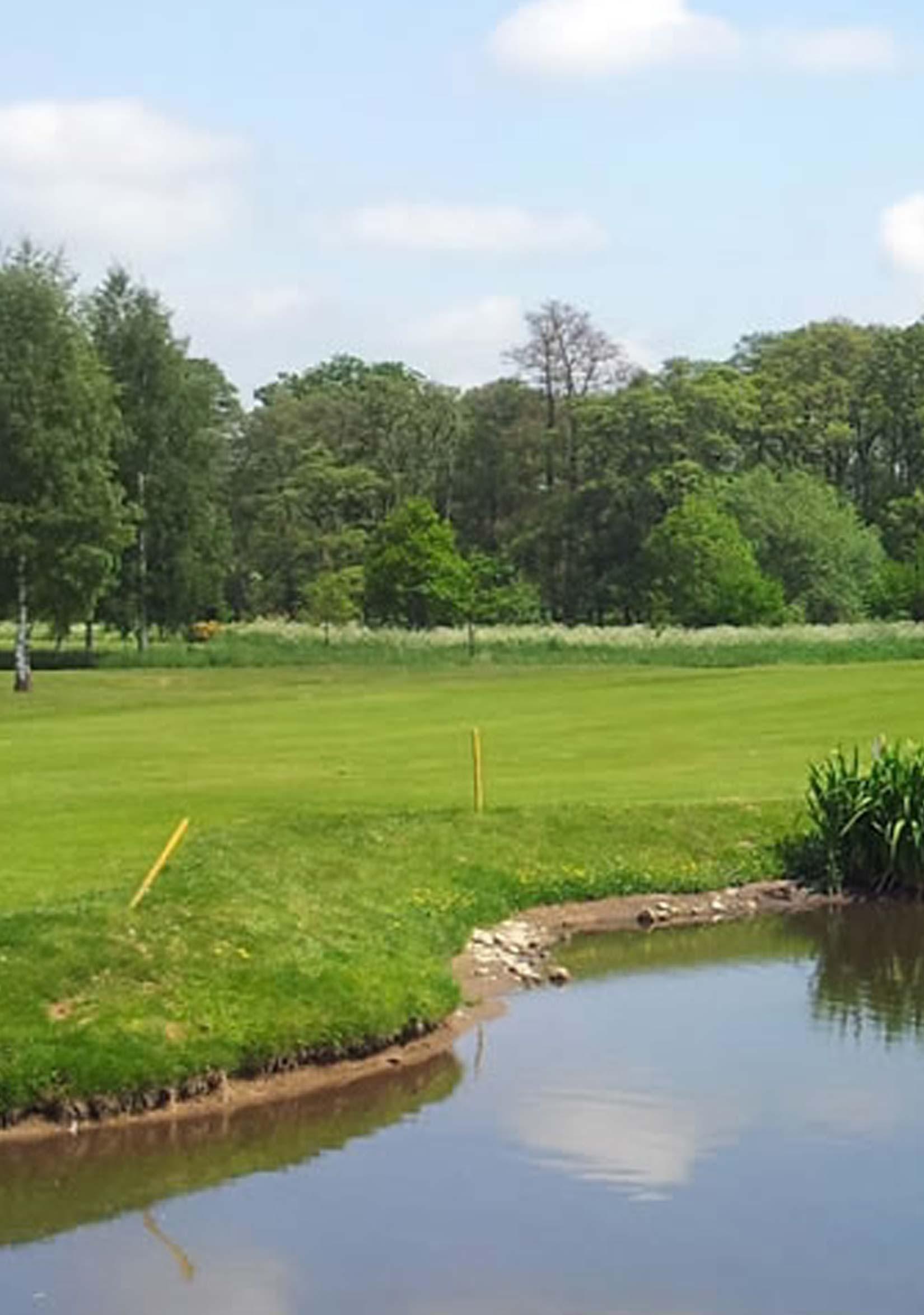 Masham Golf Course from lake