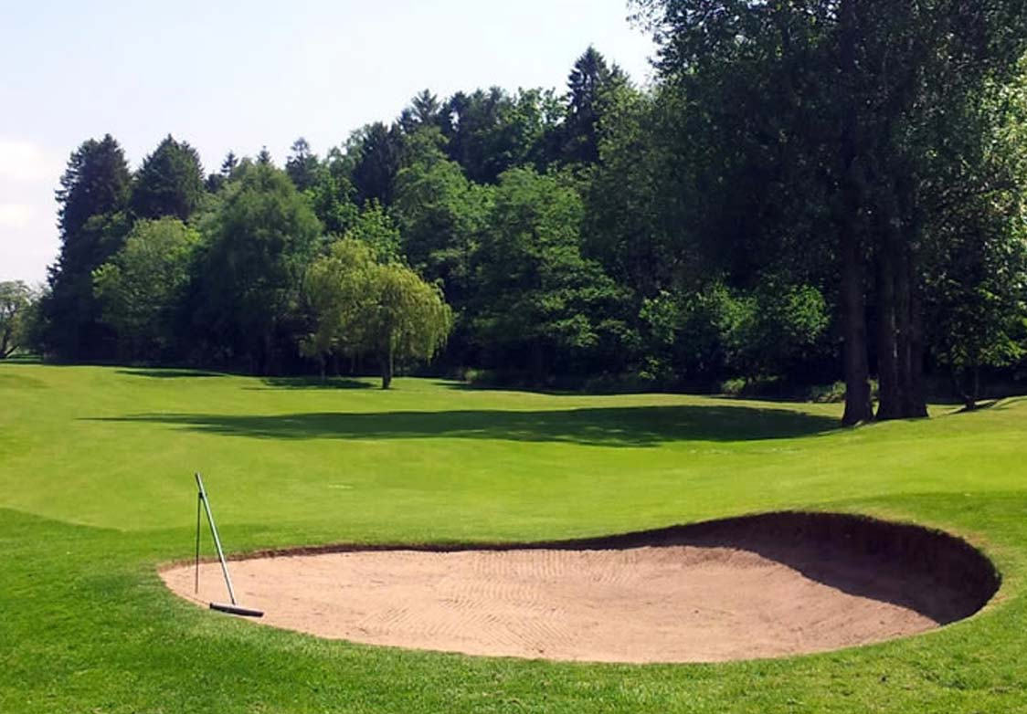 Masham Golf Course sand bunker rough near Morton House in Masham