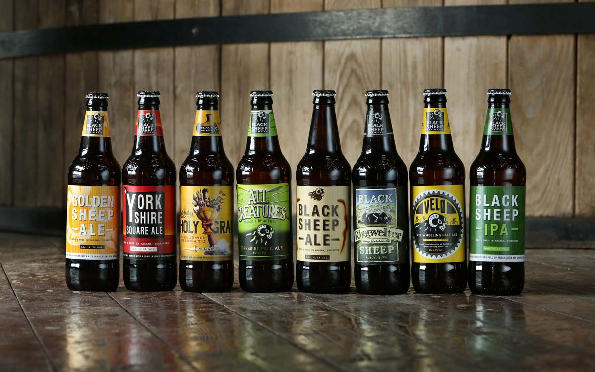 8 bottle Range of Black Sheep Beers