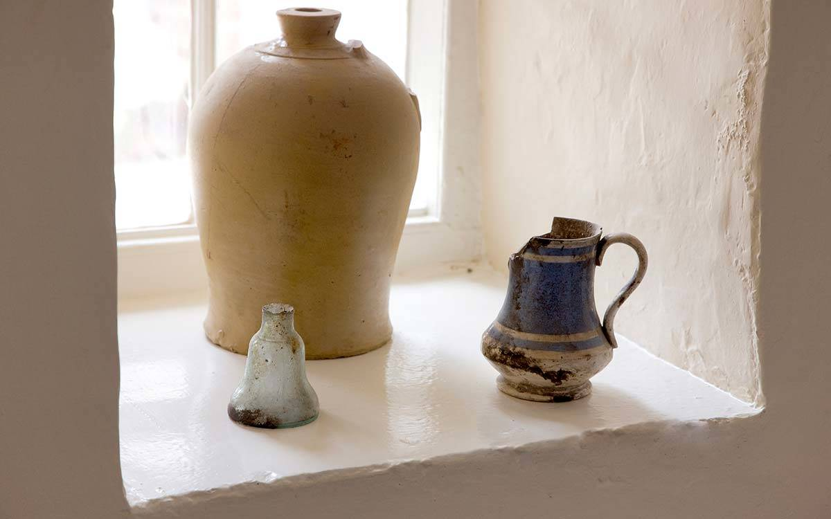 Morton House in Masham, items found in the wall during renovation