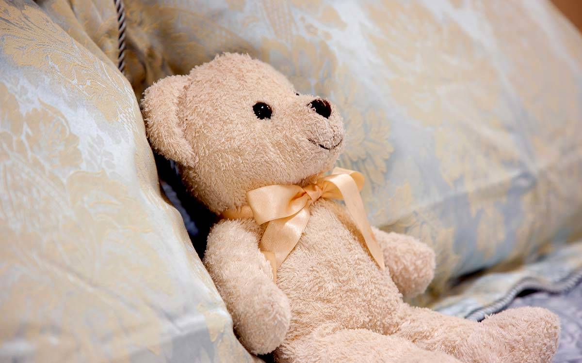 Morton House in Masham, Teddy Bear on the bed