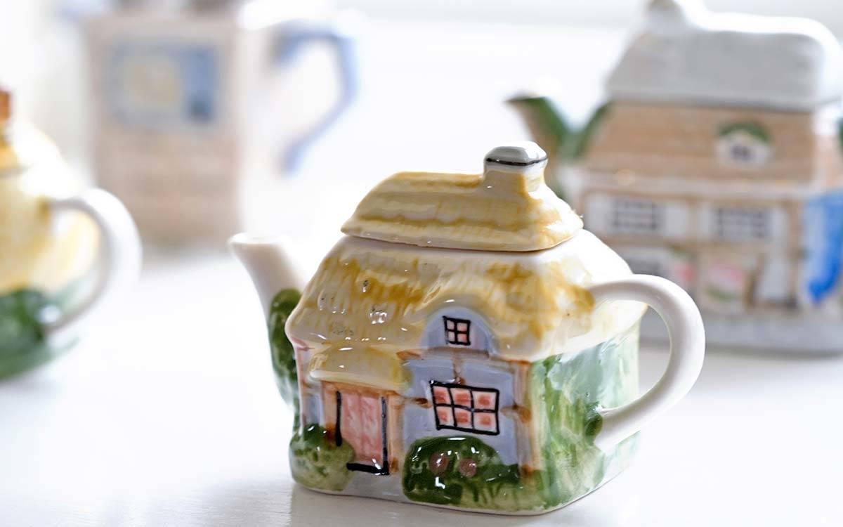 The Stable Block in Masham, decorative detail Ornamental Teapots