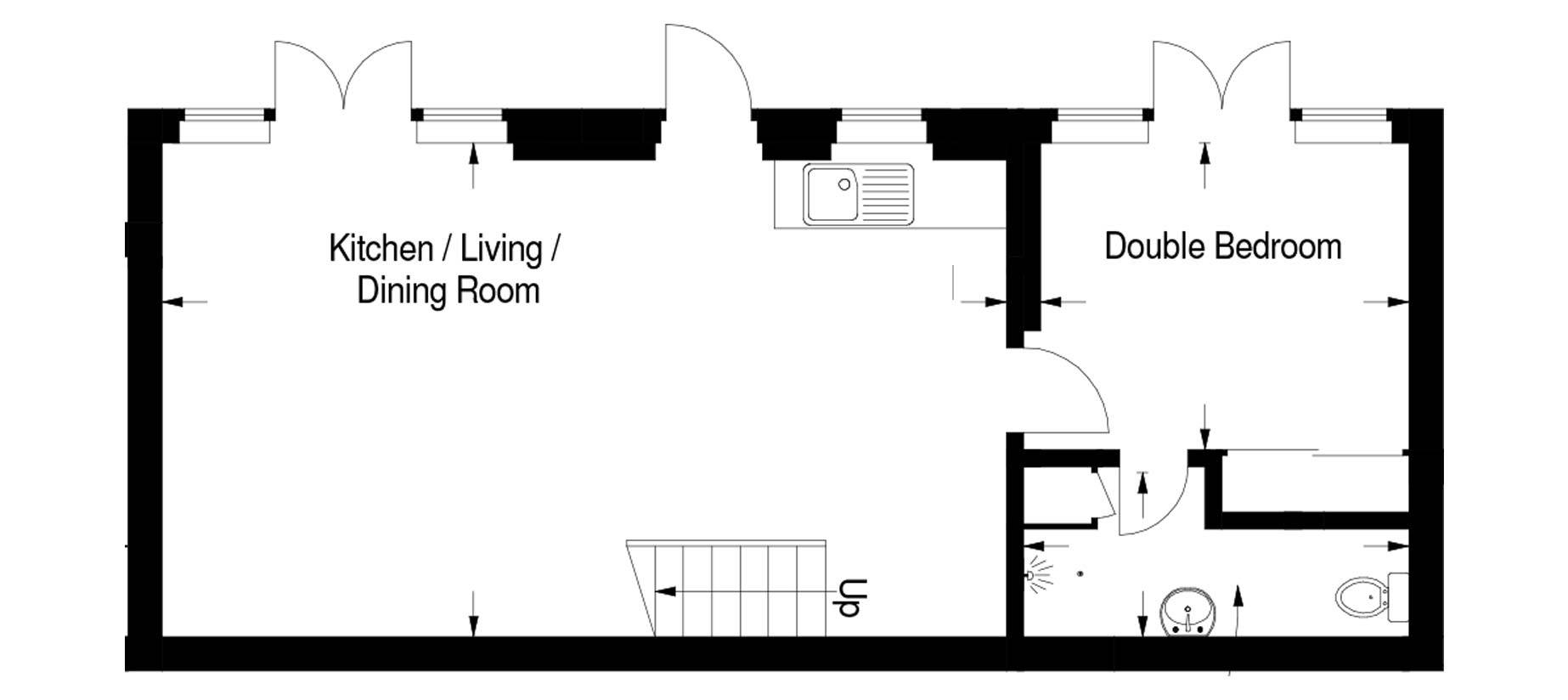Morton House Downstairs Floor Plan
