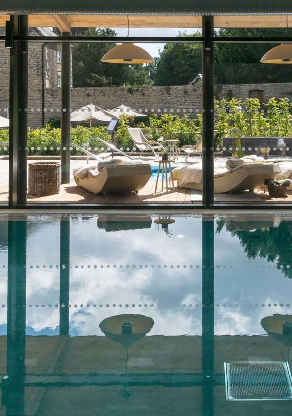 Swinton Park Country Club and Spa indoor/outdoor pool near Morton House in Masham
