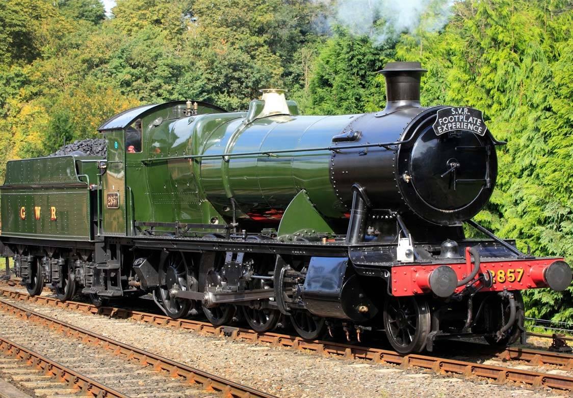Steam locomotive engine on the Yorkshire Moors Railway