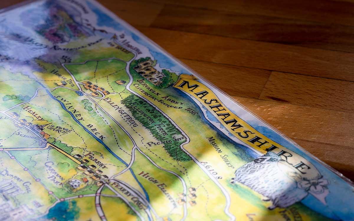 Decorative detail Mashamshire Map